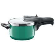 Silit Sicomatic t-plus pressure cooker, without insert, 2.5l, Ocean Green, also suitable for induction, 8202191714