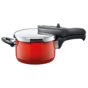 Silit Sicomatic t-plus pressure cooker, without insert, 2.5l, Silargan, Energy Red, also suitable for induction, 8202174814