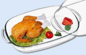 Glass Chicken Roaster With Lid