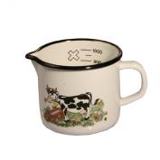 Axentia 220005 Milk Jug Enamelled 12 cm Assorted Designs