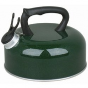 GREEN WHISTLING KETTLE 2L NEW & BOXED FOR CAMPING GAS