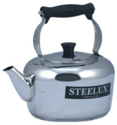 Steelux 4 Litre Traditional Stainless Steel Stove Top Kettle