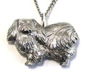 Pekingese Dog Necklace in Fine English Pewter, Handmade and Gift Boxed