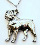 Rottweiler Dog Lovers Necklace in Fine English Pewter, Handmade, Gift Boxed