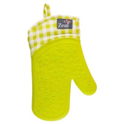 New Zeal Kitchen Checked Waterproof Mitt Silicone & Cotton Single Oven Glove