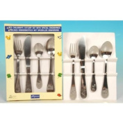 4pc Stainless Steel Children's Cutlery Set With Special Engravings
