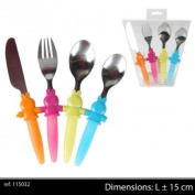 Childrens Coloured 4pc Cutlery Set
