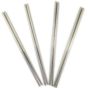 Four Pairs of Japanese Chopsticks - Stainless Steel
