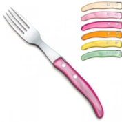 ProPassione Laguiole Berlingot Table Forks Pastel, set of 6 in box, acrylic handles, colours