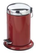 Wenko Retoro Cosmetic Pedal Bin, Bourdeux Red