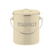 TYPHOON VINTAGE CREAM STAINLESS STEEL COMPOST CADDY