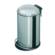 Hailo 0514-472 Trento TOPdesign 14 Pedal Bin Zinc-Coated Stainless Steel
