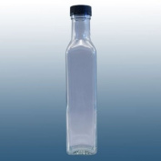 250ml Square Glass - Sauce / Dressing / Relish Bottle With Screw Cap