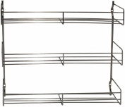 Metaltex 3-Tier 30 x 6 x 33 cm Chrome Plated Spice Rack