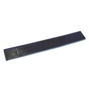 """Bar Rail Mat Black 24"""" x 3.25"""" 610 x 83mm"""