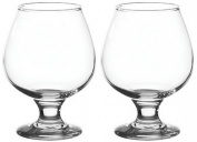 Set of 2 Large 390ml Stemmed Brandy Glasses