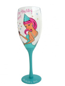 Boxer Tallulah Chic Giant Painted Champagne Flute with Gift Box, Birthday Girl