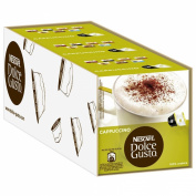 Nescafé Dolce Gusto Cappuccino, Pack of 3, 3 x 16 Capsules 24 Servings