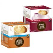 Nescafé Dolce Gusto Capsules Decaffeinato-Set, Caffé Lungo and Espresso Decaffeinato