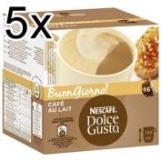 Nescafé Dolce Gusto Café au lait, Pack of 5, 5 x 16 Capsules