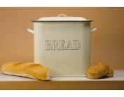 Falcon Enamel 34cm Oblong Bread Bin Cream [Kitchen & Home]