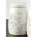 Premier Housewares Meadow Breeze Tea Canister, Ivory