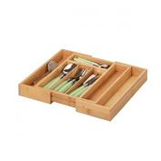 Zeller 25322 28.5-40 x 33.5 x 5 cm Extendible Cutlery Tray Bamboo