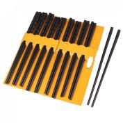10 Pairs Kitchen Dishware Nonslip Plastic Chopsticks Black