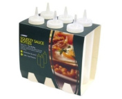 Pack of 6 Squeezy Clear 350ml Sauce Bottles