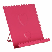Premier Housewares Heart Design Cookbook Stand, Hot Pink