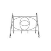 Axis Heavy Gauge Chrome Plated Steel Cookbook Stand 19cm x 27.5cm x 20cm