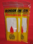 3 Bags of Bleached White Ronson Pipe Cleaners 25 a Bag