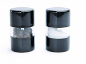 DMD Mini Gem Salt and Pepper Mill Set, Metallic Black