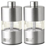 Adhoc MP31 Mini Pepper and Salt Mill Set Stainless Steel 6.2 cm