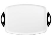 Chop & Serve Double Handle Board - White Kitchen Chopping Board