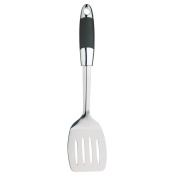 Kitchen Craft Master Class Soft Grip Long Handled Slotted Turner, Stainless Steel