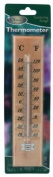 Large Wooden Thermometer