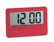 Large Display Magnetic Digital Kitchen Timer - rubberised finish - Red
