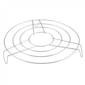 Home Kitchen Stainless Steel 21cm Diameter Round Cooker Steamer Rack Stand