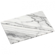 Elegant Chopping Board Made of White Marble & Polished Finish