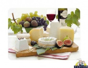 Premium Glass Chopping Board - Enjoy Cheese Design Kitchen Worktop Saver Protector