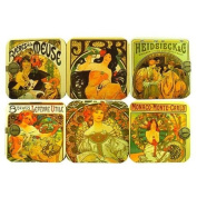 Souvenirs of France - 6 x Retro Posters Coasters
