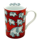 Könitz Mug Chain of Elephants - Red