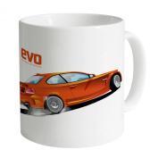 Evo BMW 1M Coupe Orange Logo Mug, White