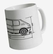 PistonHeads Peugeot 205 GTi Mug, White