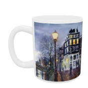 At Dusk, Amsterdam, 1999 (oil on canvas) by.. - Mug - Standard Size