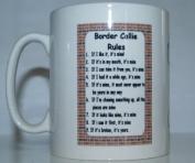 Border Collie Rules' Dog Breed Printed Tea/Coffee Mug - Ideal Gift/Present