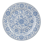 Queens Penzance 26 cm Earthenware Concentric Circles Dinner Plate