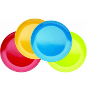 Miniamo Brights Melamine Plates, Set of 4