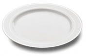 MOZAIK 20 White Silver Rim Plastic Plates 15cm